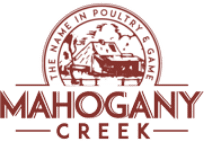 Mahogany Creek Logo against a pixelated background