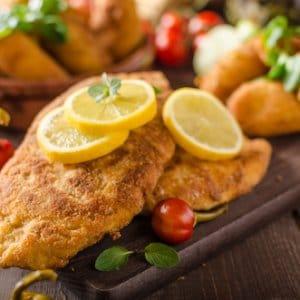 Crumbed Chicken Breast Schnitzel