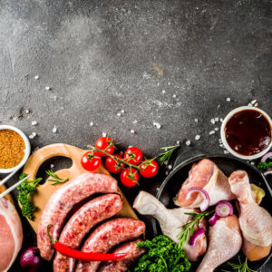 various,Raw,Meat,Ready,For,Grill,And,Bbq,,With,Vegetables,